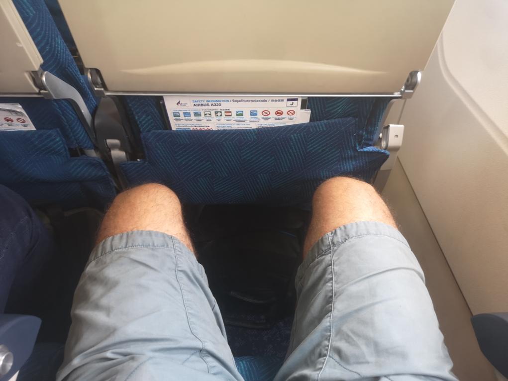 Il y a de la place pour les jambes, on est bien