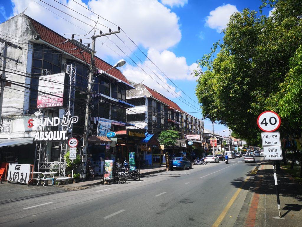 Une rue à Chiang Mai