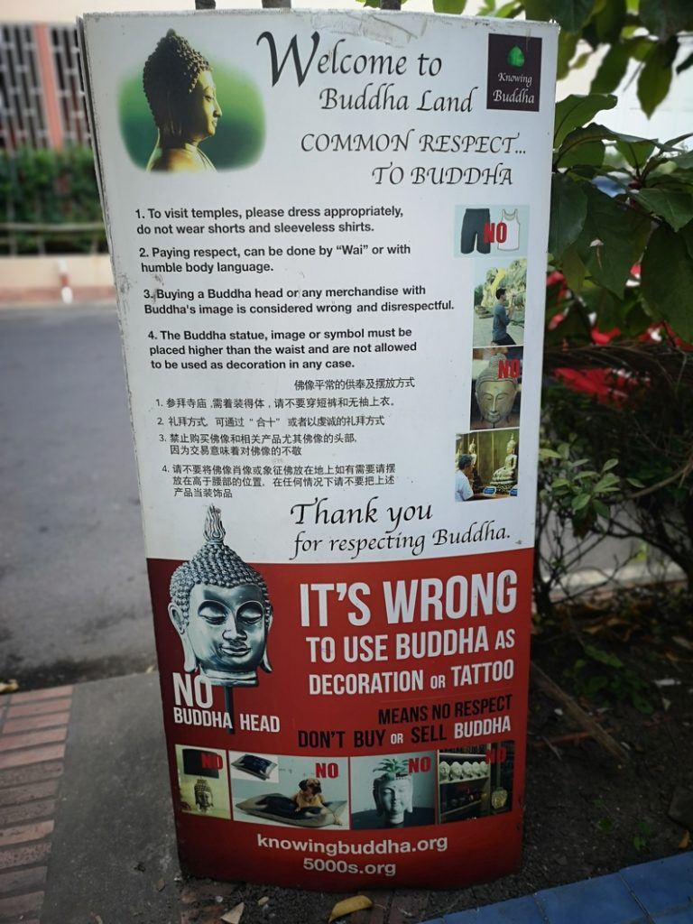 Informations sur le respect de la religion: n'achetez pas de statuettes Bouddha pour décorer votre salon