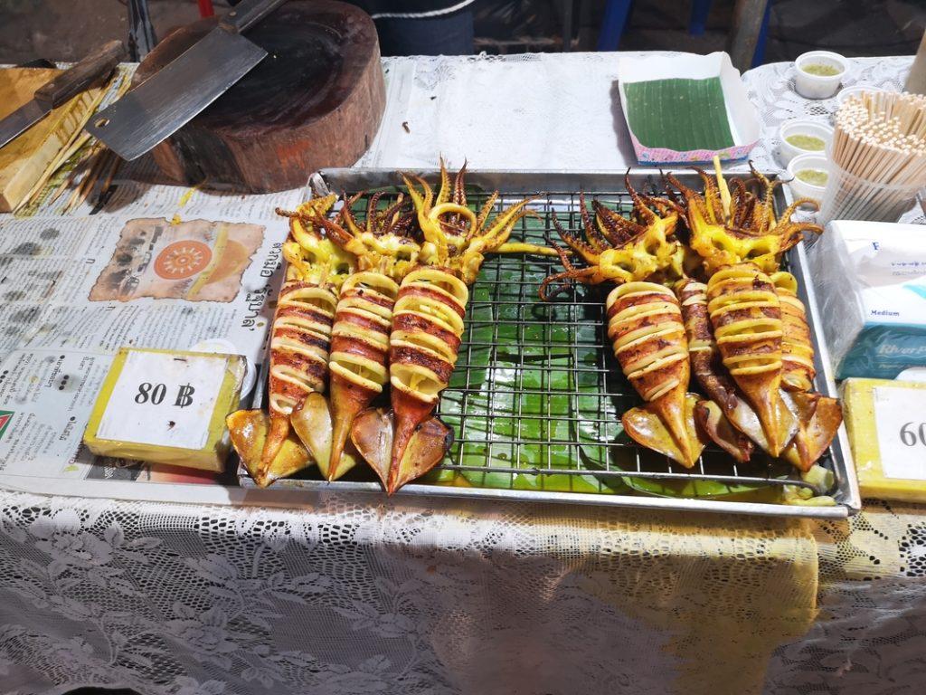 Calamars au barbecue