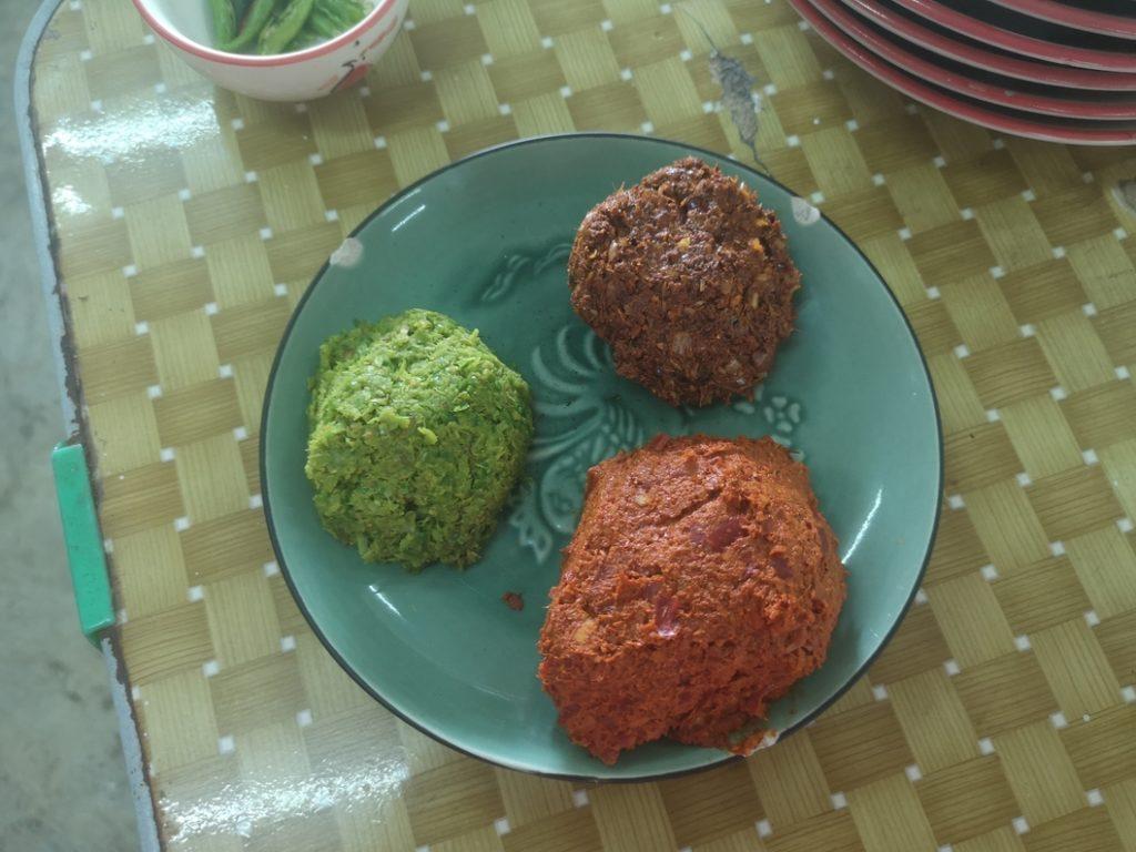 Trois pâtes à curry pour les trois types de curry différents