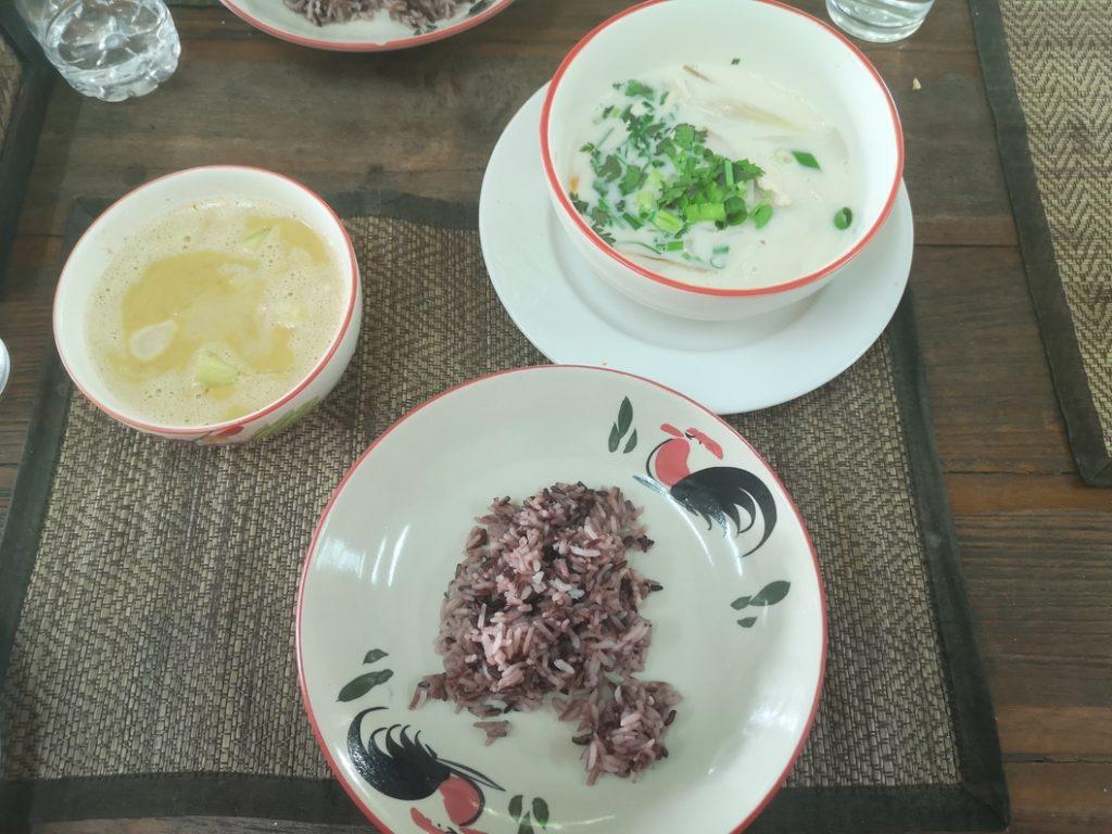 Curry Massaman et soupe de Lait de coco