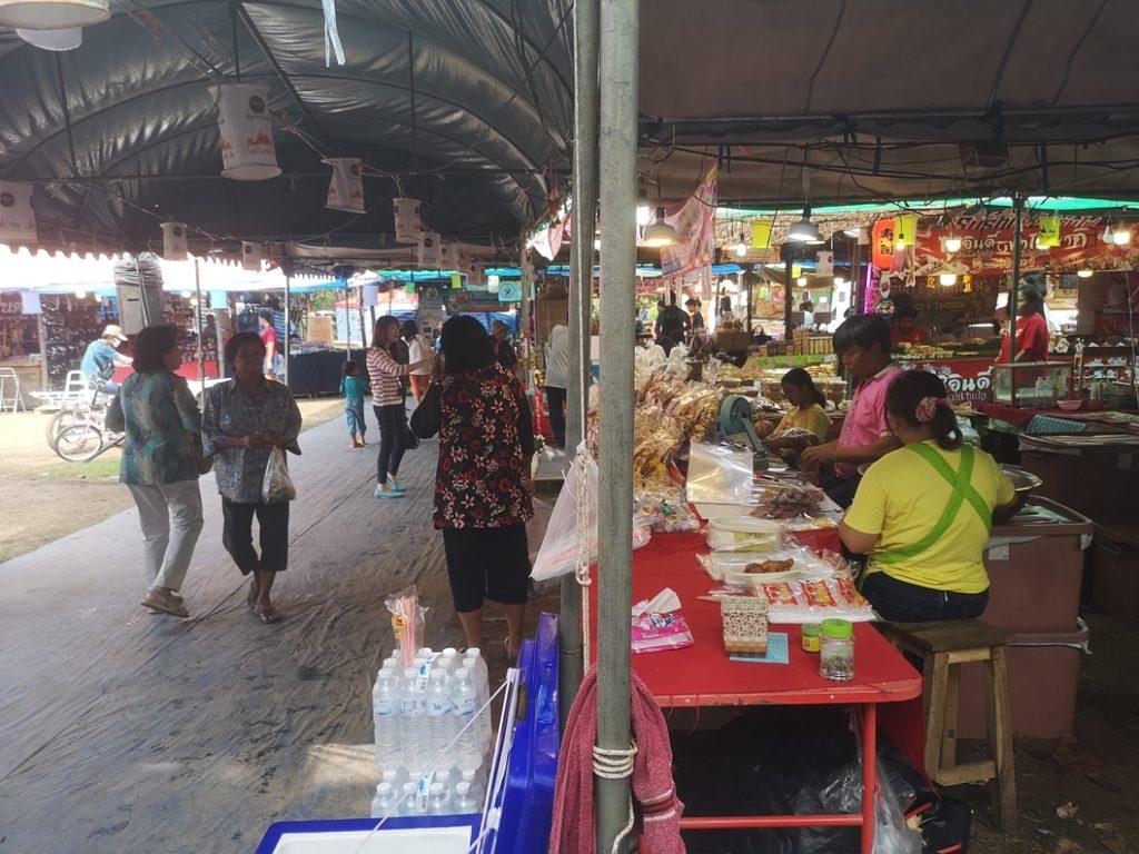 Le marché de nourriture dans le parc historique
