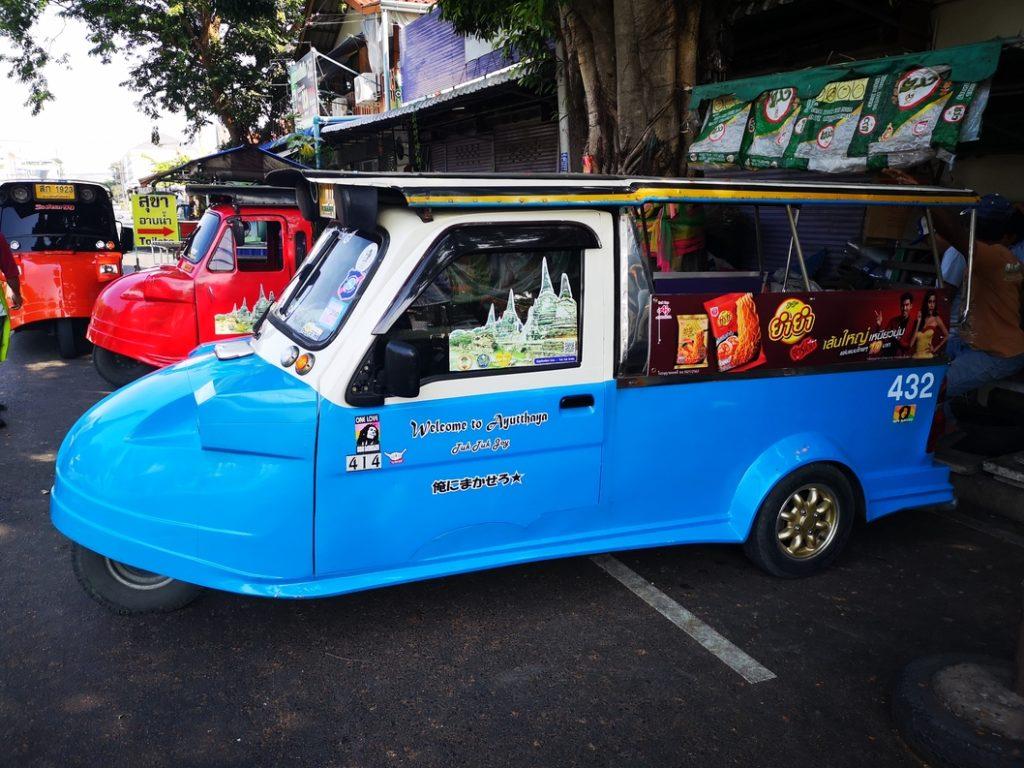 L'un des nombreux Tuk Tuk touristiques de la ville