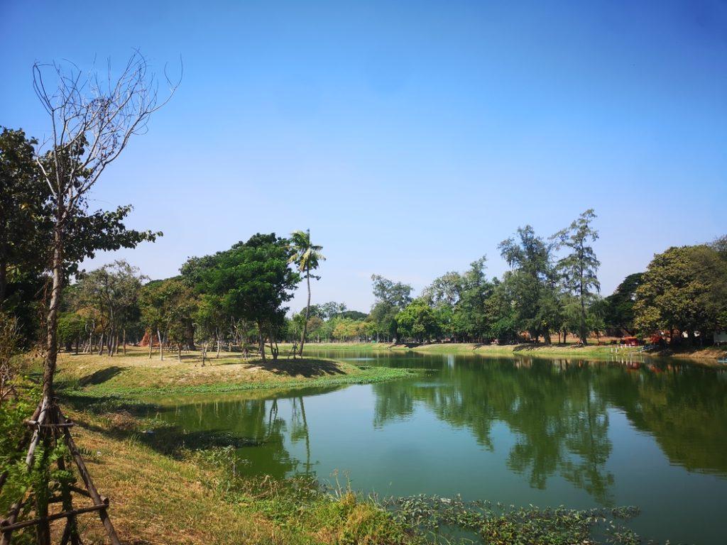 Lacs et canaux au milieu du Rama Public Park