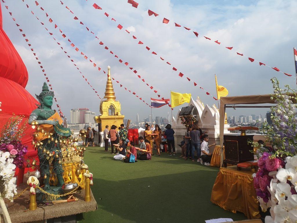 Terrasse au sommet du temple