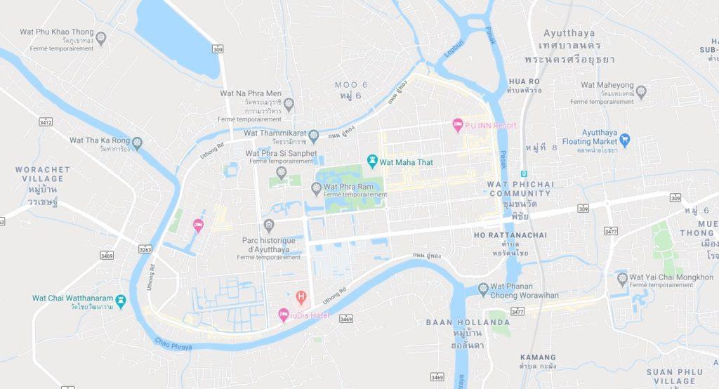 Ville d'Ayutthaya