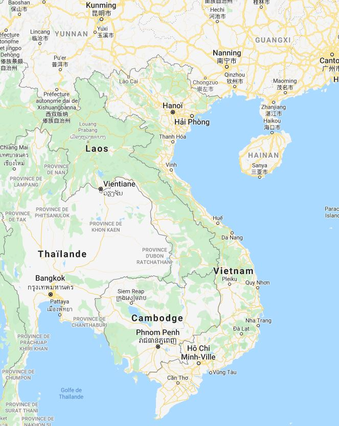 Carte du Vietnam et de ses pays voisins