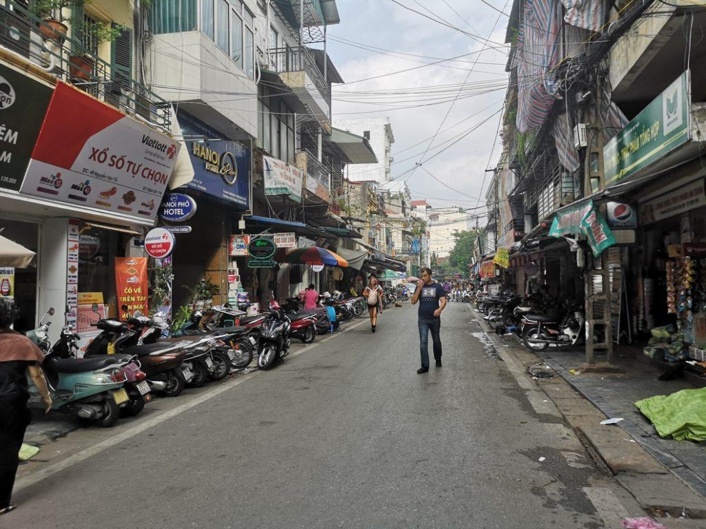 Une rue à Hanoï