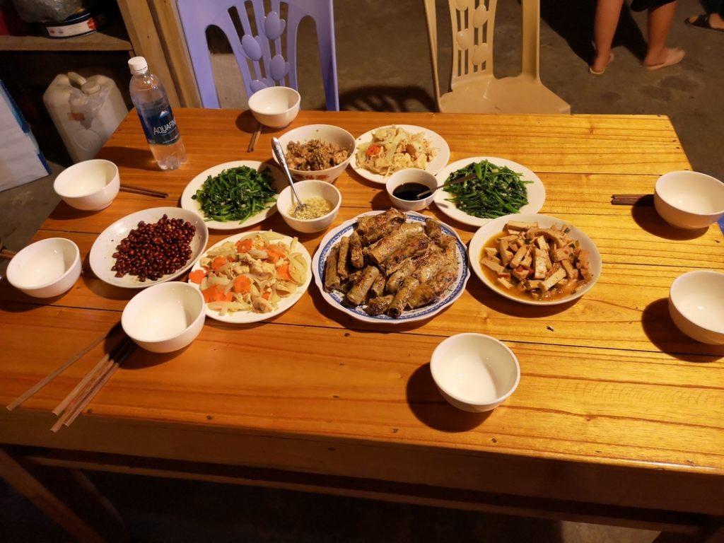 Repas du soir partagé avec nos hôtes
