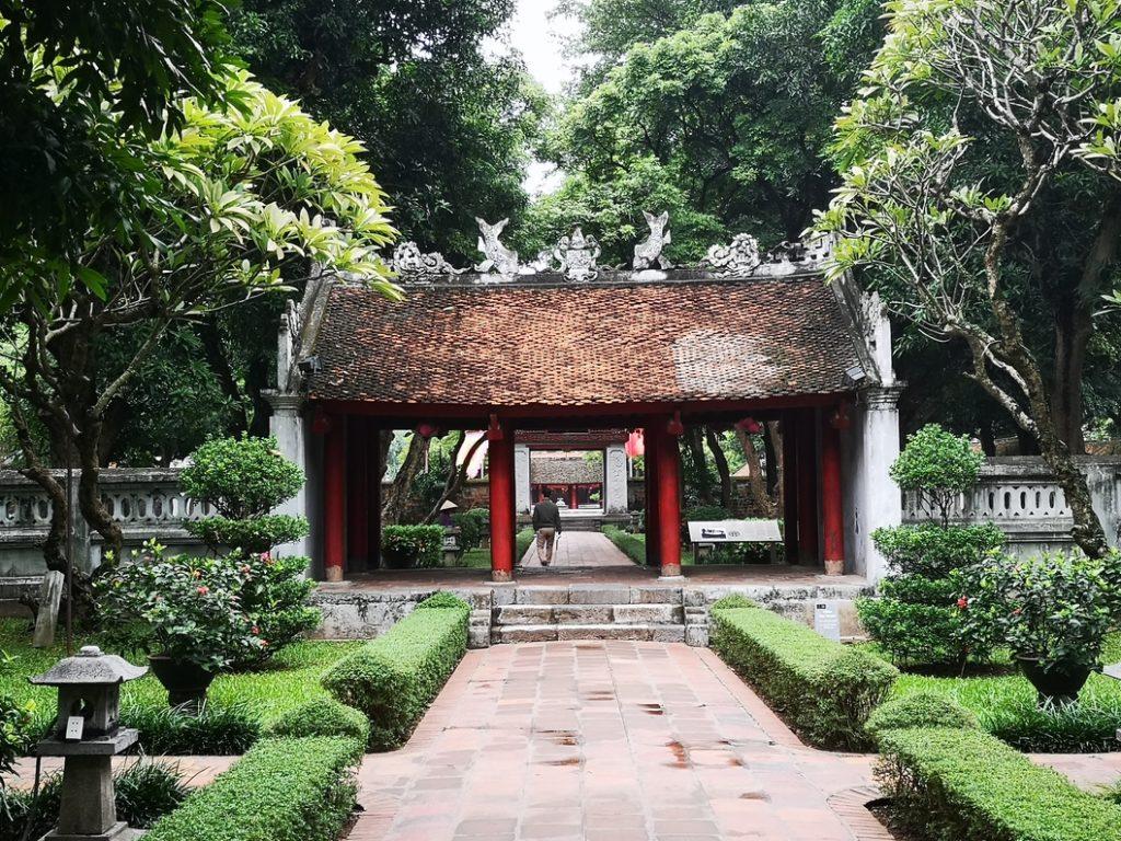 Porte séparant deux cours du temple de la Littérature