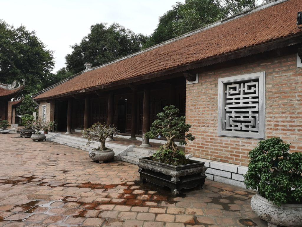 L'arrière-cour du temple