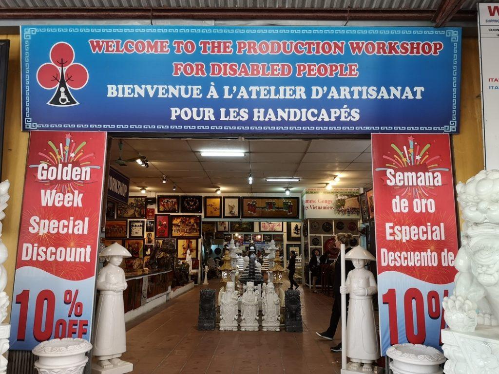 Atelier d'artisanat pour les handicapés