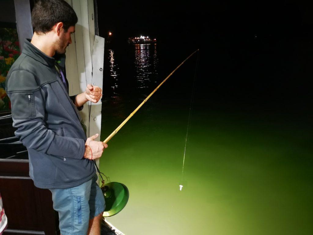 Tentative de pêche aux calamars
