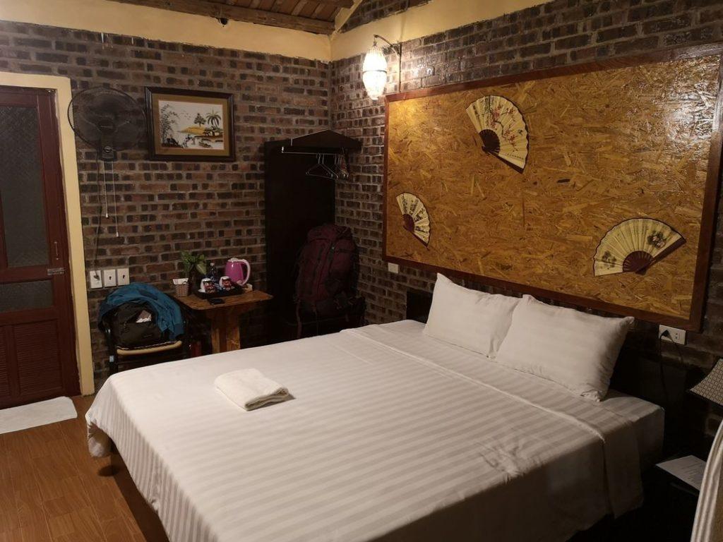 Notre lit au Tam Coc Sunshine Homestay