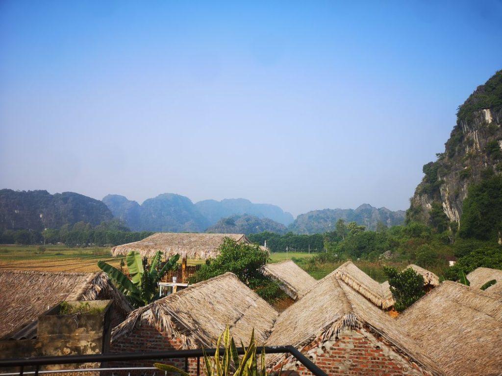 Vue depuis la terrasse du Tam Coc Sunshine Homestay