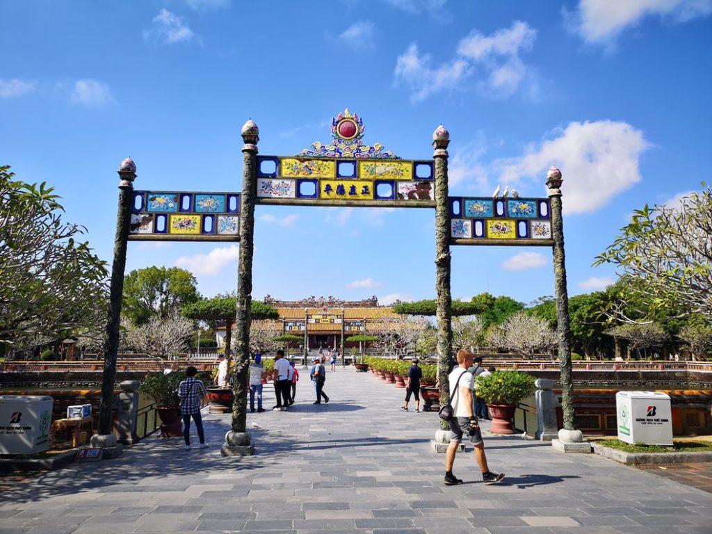 Porte au sein de la cité impériale