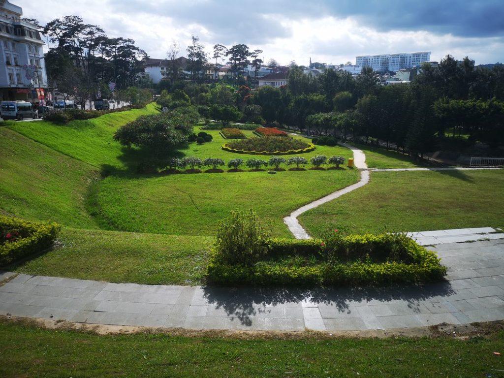Jardin au centre de Da Lat près du lac
