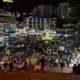 La place du marché nocturne de Da Lat