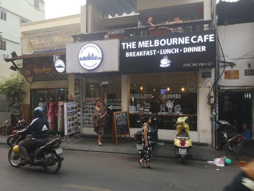 Melbourne Café, au détour d'une rue à Ho Chi Minh