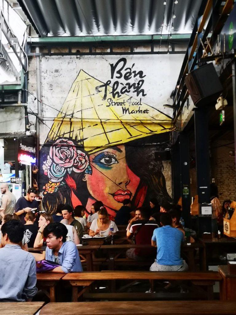 Fresque au Ben Thanh Street Food Market