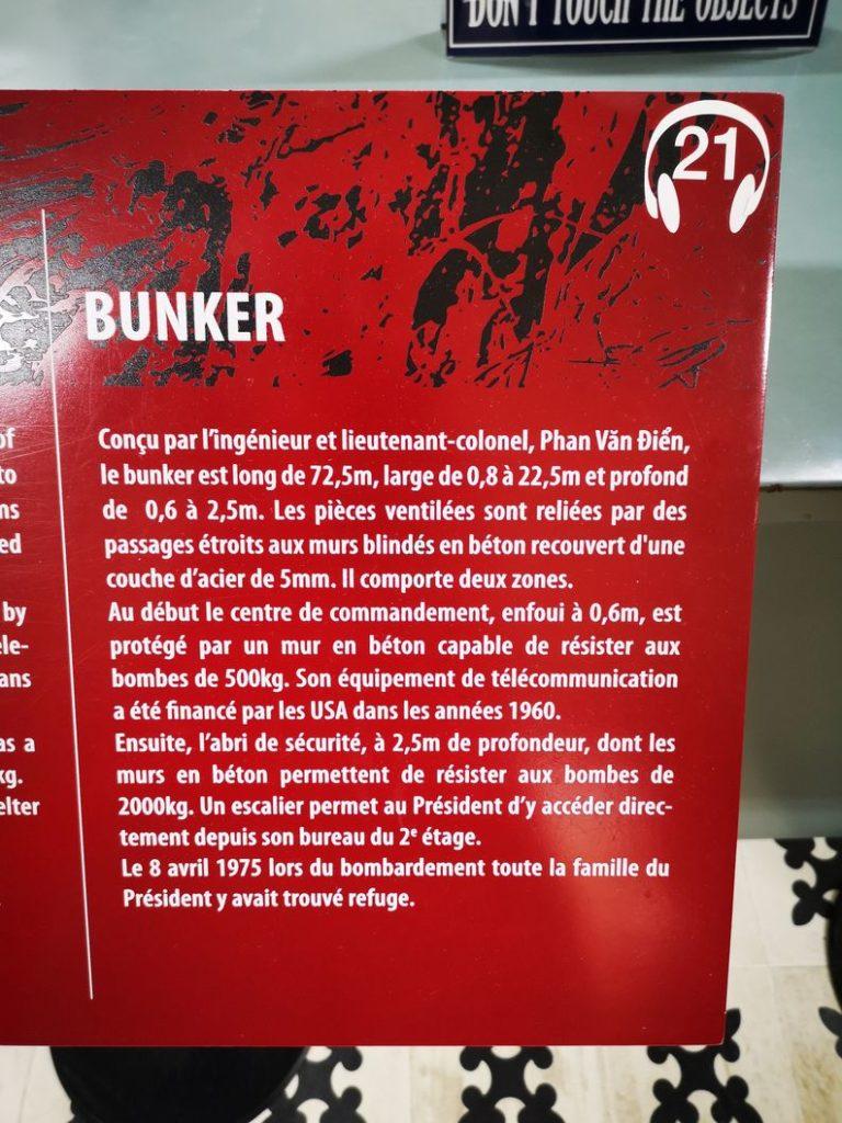 Explications sur le Bunker