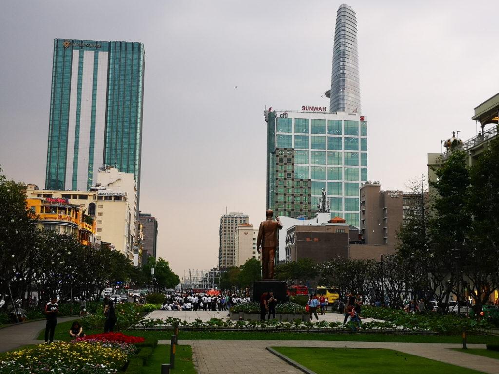 Vue sur les gratte-ciels de la ville