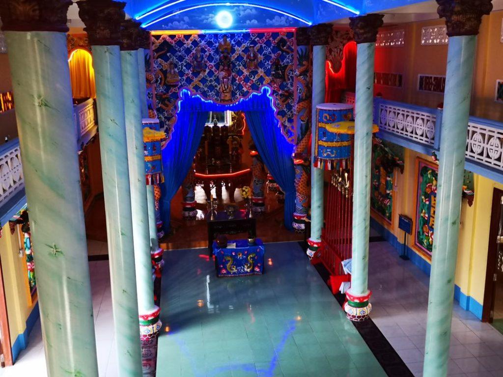 Vue de l'intérieur du temple