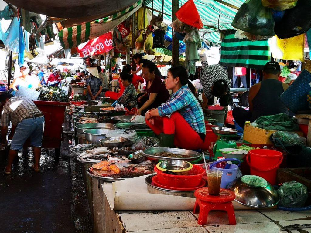 Thai Binh Market - Un marché de produits frais non loin de notre logement