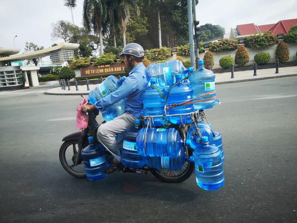 Livraison d'eau potable