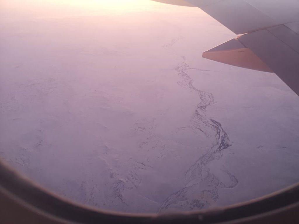 Plaine enneigée, on est bien en hiver dans cet hémisphère