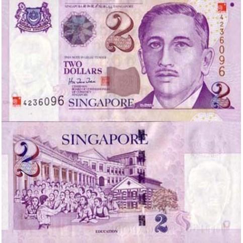 Le Billet de 2 dollars de Singapour