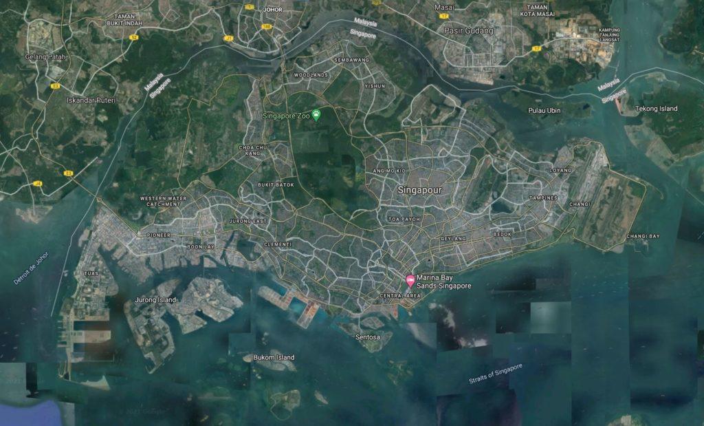 Singapour vue par satellite