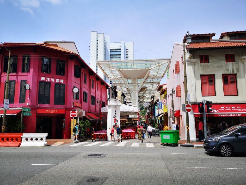 Rue commerçante de Chinatown