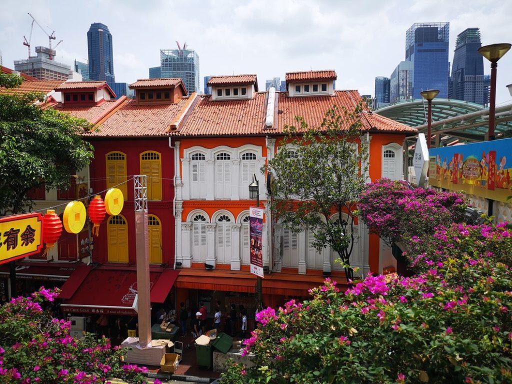 Vue d'une terrasse dans Chinatown