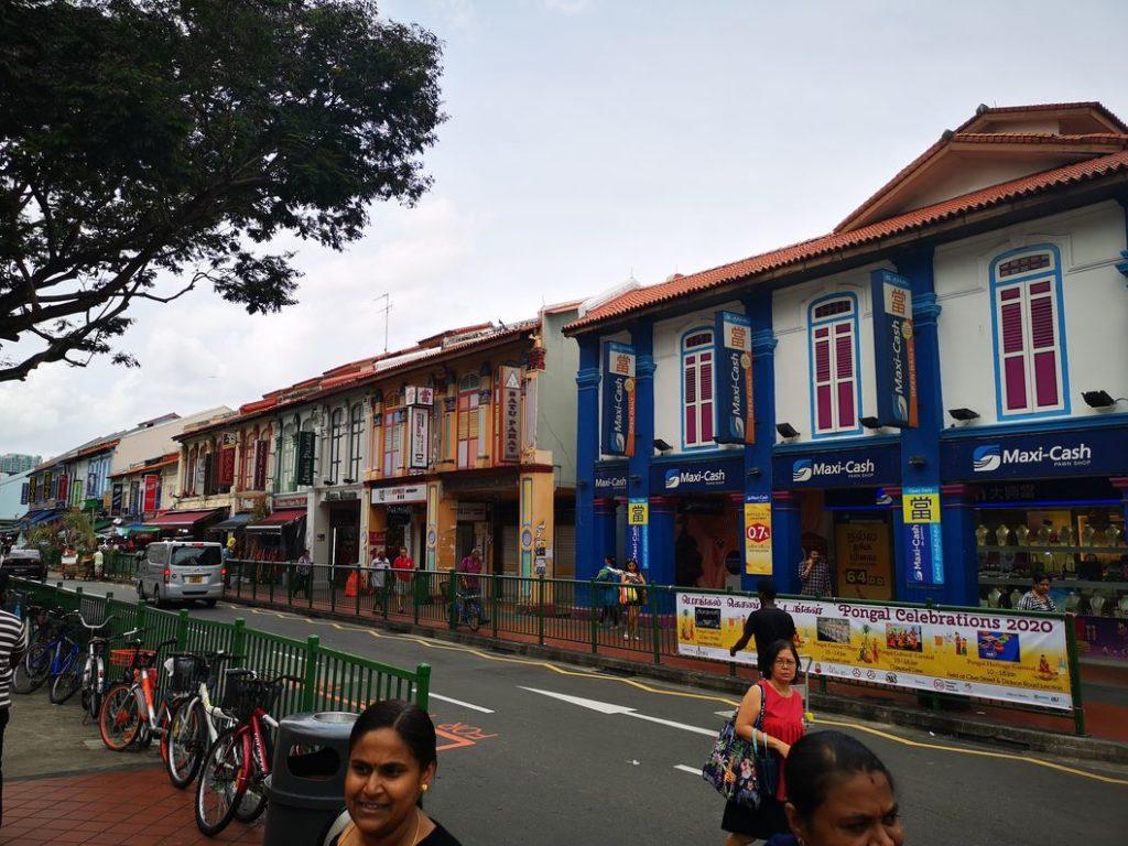 Maisons colorées de Little India
