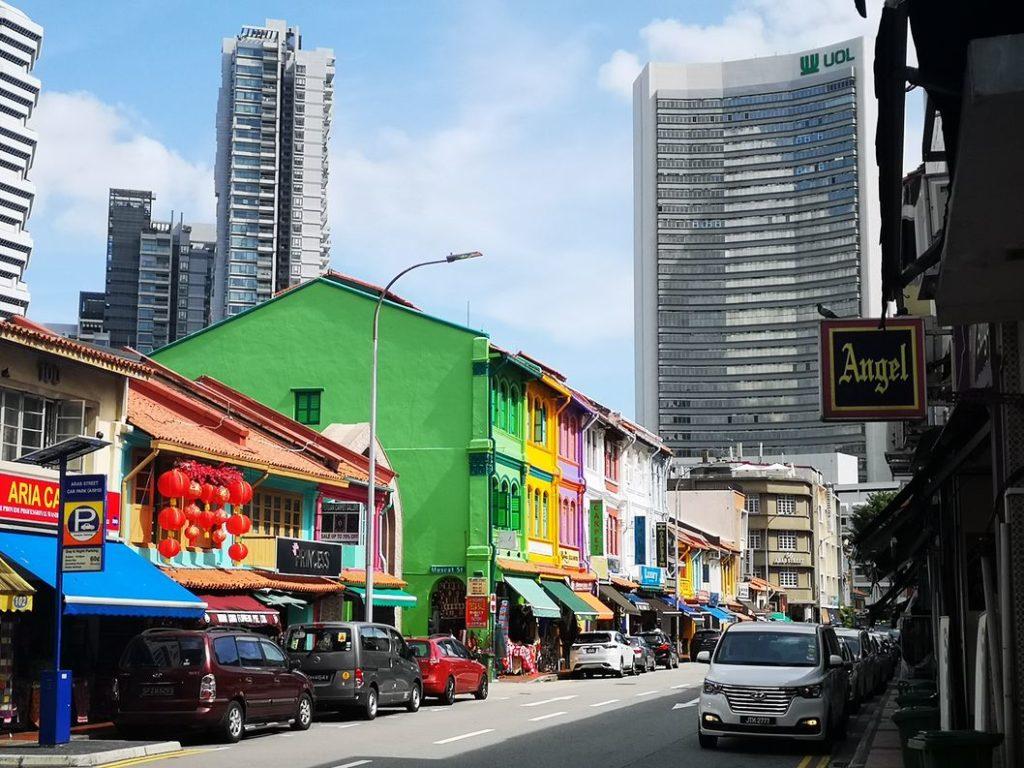Les maisons colorées de Kampong Glam