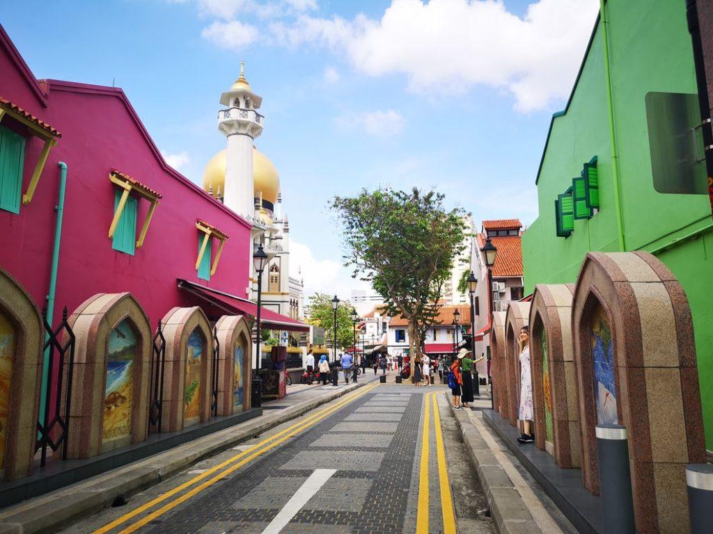 Muscat Street vers la Mosquée
