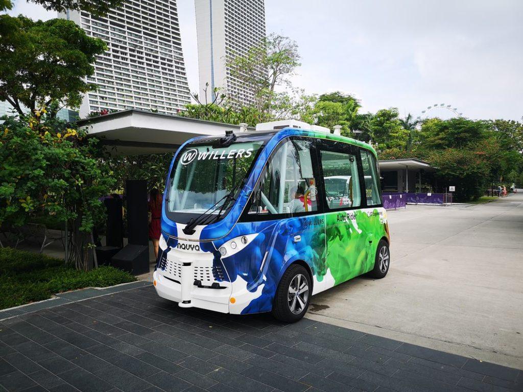 Le véhicule autonome de la veille mais de jour