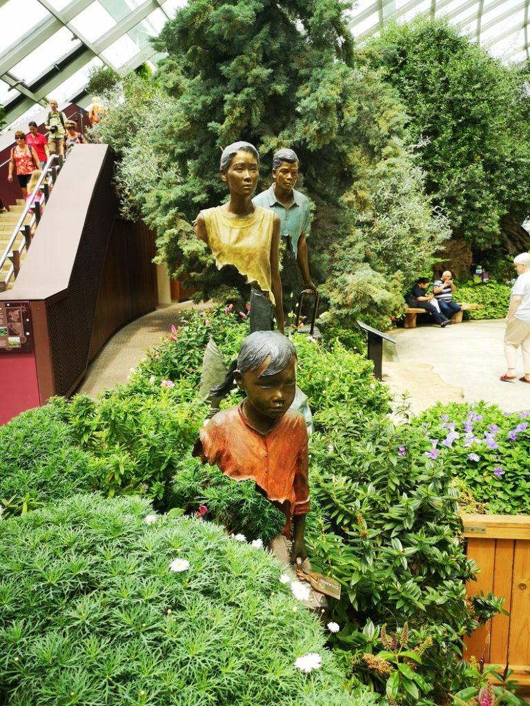 Sculpture de fer dans le Flower Dome