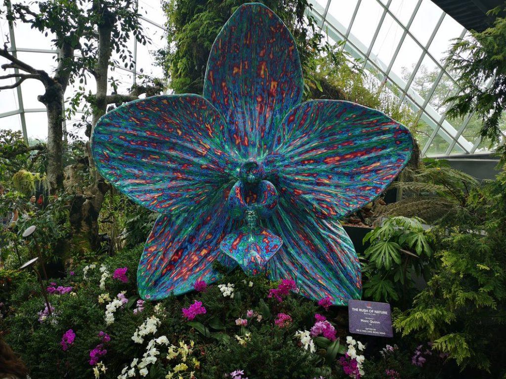Sculpture d'Orchidée