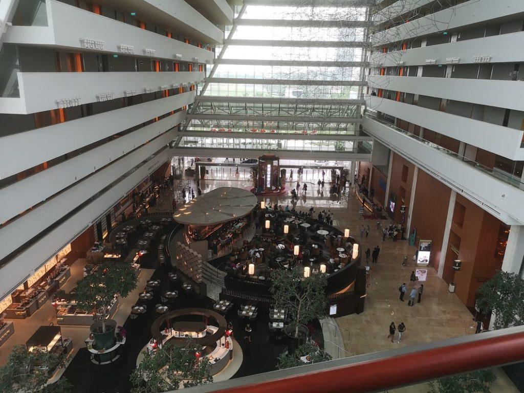 Hall de l'hôtel du Marina Bay Sands