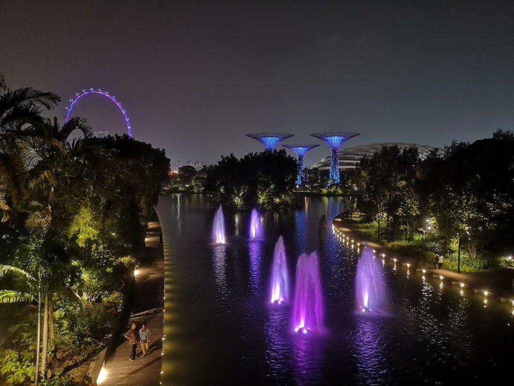 Les Gardens by the Bay de nuit