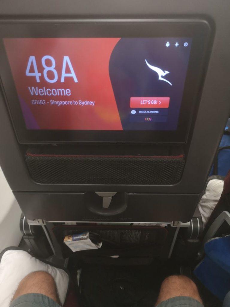 En route pour Sydney avec Qantas