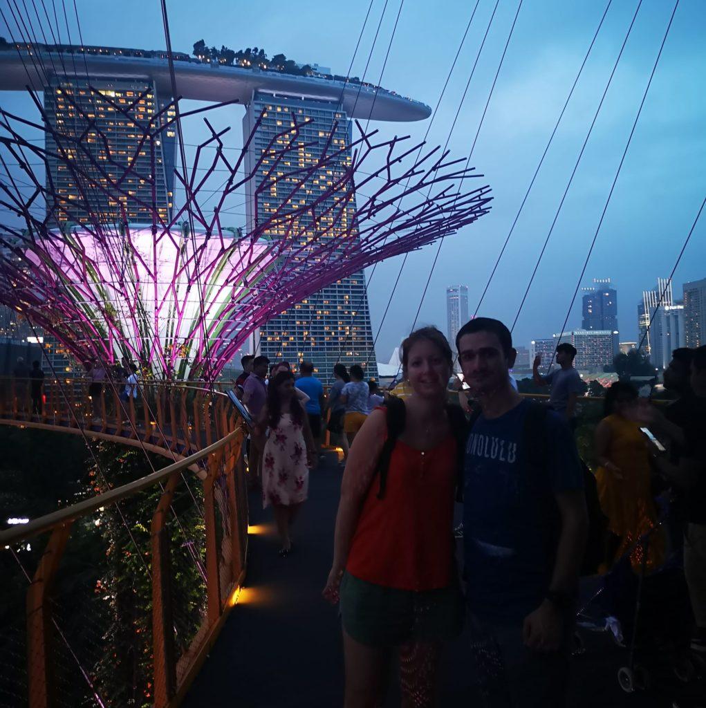 Photo de nous lors du Garden Rhapsody du haut de la Skyway
