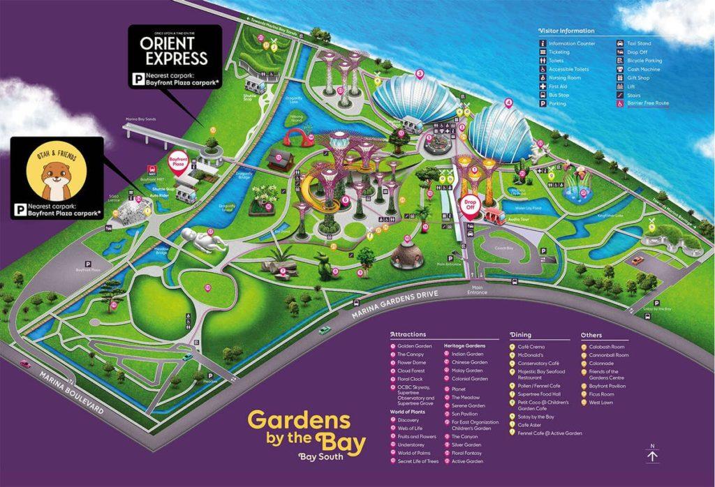 Aperçu du plan des Gardens by the Bay